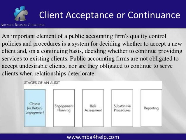 audit and client acceptance In general, the objective of an internal audit is to assess the risk of material misstatement in financial reporting material misstatements can arise from inadequacies in internal controls and from inaccurate management assertions.