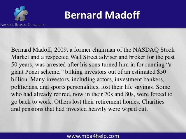 evaluating ethics of bernie madoffs investment securities fraud accounting essay From the director s desk carol henderson time sure flies – it is spring and time to publish the second issue of the ncstl e-newsletter.