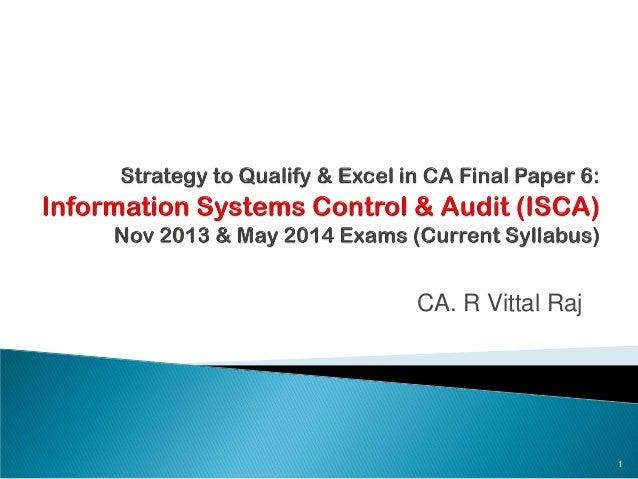 CA. R Vittal Raj 1