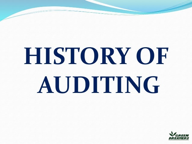 evolution of auditing in india