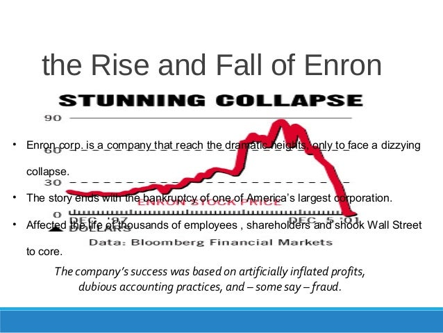the enron collapse Some people, even ones that should know better, assert that greed was behind the collapse of enron here are two dictionary definitions of the word greed:.