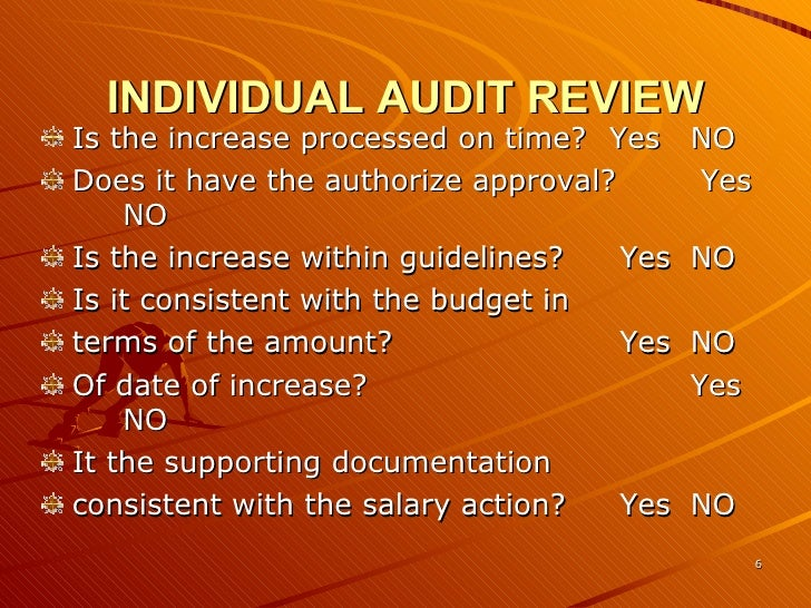 Auditing & Reviewing The Current Wage And Salary 823