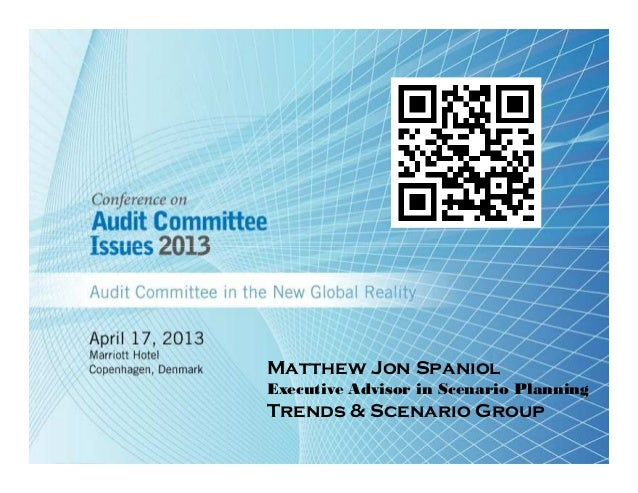 Matthew Jon SpaniolExecutive Advisor in Scenario PlanningTrends & Scenario Group
