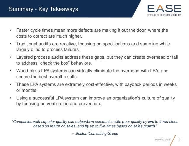 Layered Process Audit
