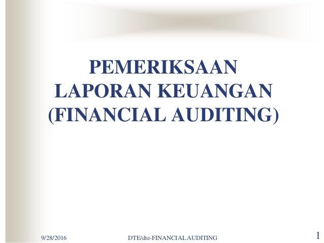 Prosedur Audit Keuangan
