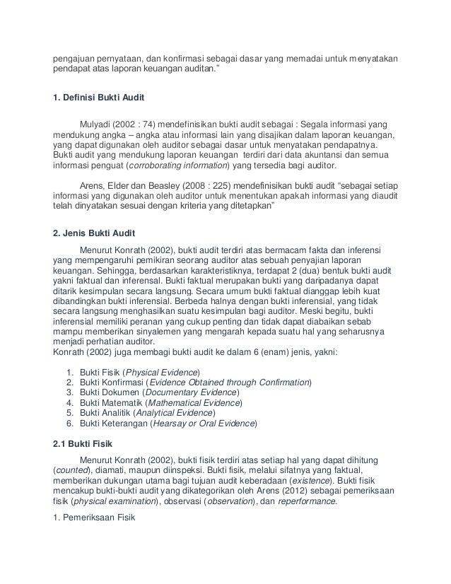 Bukti Audit Yang Mendukung Laporan Keuangan Seputar Laporan
