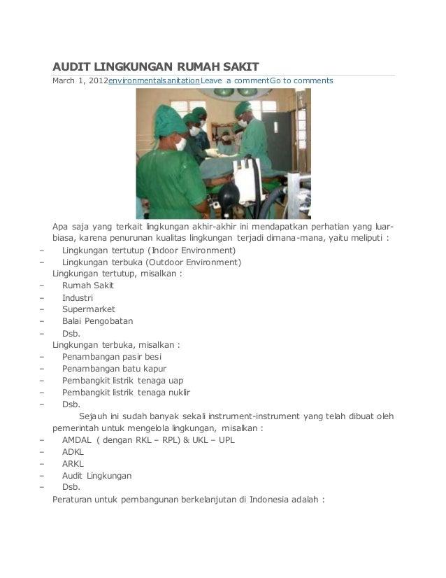 Audit Lingkungan Rumah Sakit