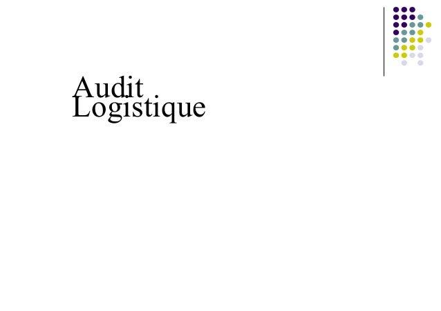 AuditLogistique