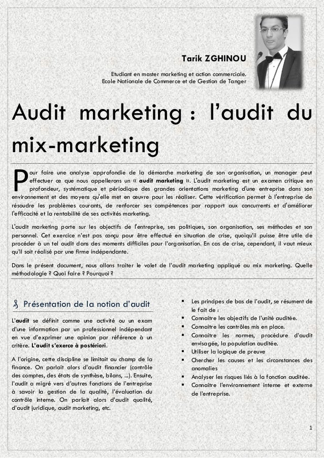 Tarik ZGHINOU                                        Etudiant en master marketing et action commerciale.                  ...