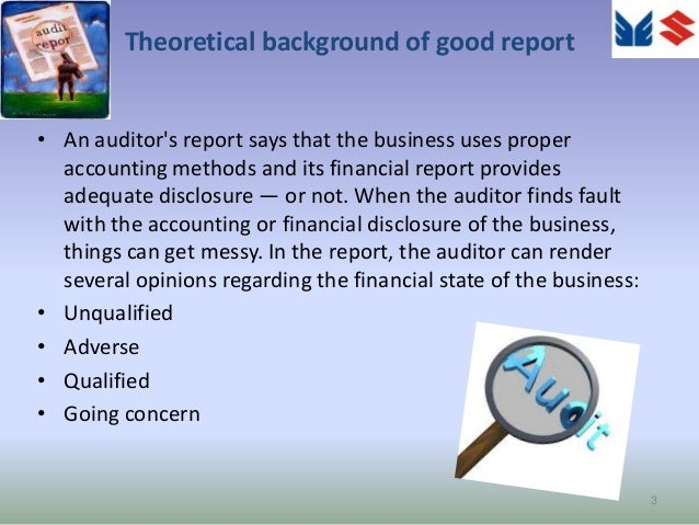 the co operative group financial report and auditing The united states public company accounting oversight board  european financial reporting advisory group  the auditor's report on an audit of financial.
