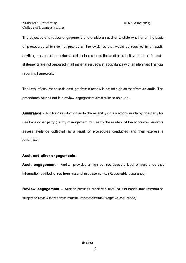 Auditng Notes