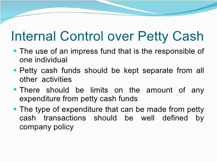 petty cash process Purpose and use of petty cash fundthe petty cash fund is intended to serve the onsite small amount emergency or incidental cash disbursement needs of departments and.