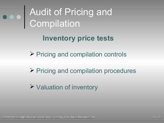 test of controls for inventory and warehousing cycle Inventory layers if you are using a fifo or lifo inventory valuation system, the auditors will test the inventory layers that you have recorded to verify that they are valid if the company uses cycle counts instead of a physical count, the auditors can still use the procedures related to a physical count they simply do so during one or more cycle counts, and can do so at any time there is no need to only observe a cycle count that occurs at the end of the reporting period.