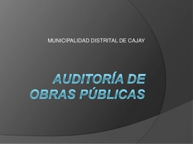 MUNICIPALIDAD DISTRITAL DE CAJAY