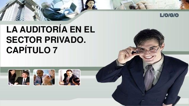 L/O/G/O  LA AUDITORÍA EN EL  SECTOR PRIVADO.  CAPÍTULO 7