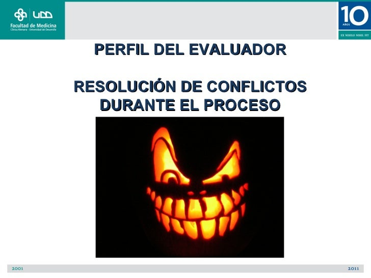PERFIL DEL EVALUADORRESOLUCIÓN DE CONFLICTOS  DURANTE EL PROCESO