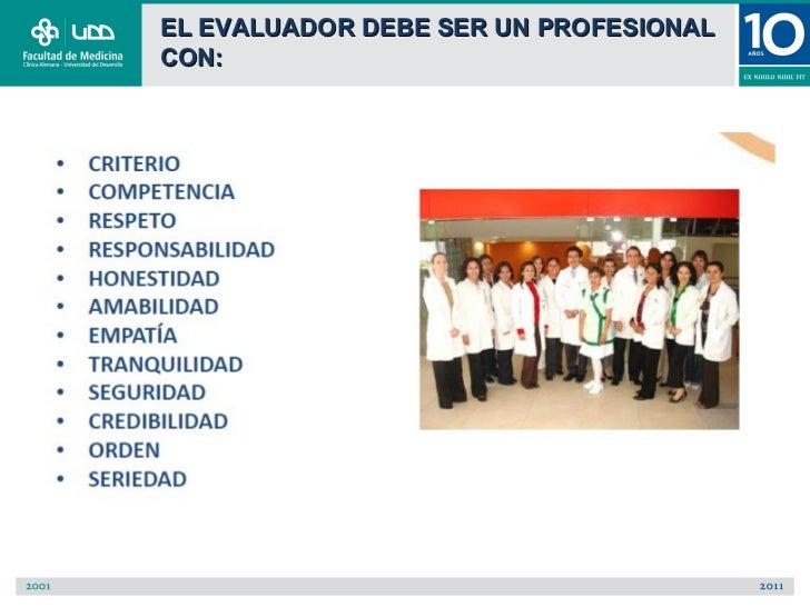 EL EVALUADOR DEBE SER UN PROFESIONALCON: