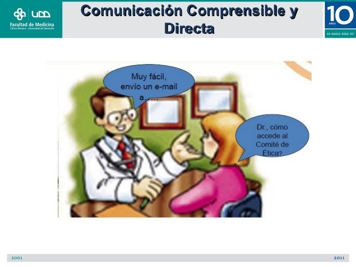 Comunicación Comprensible y          Directa
