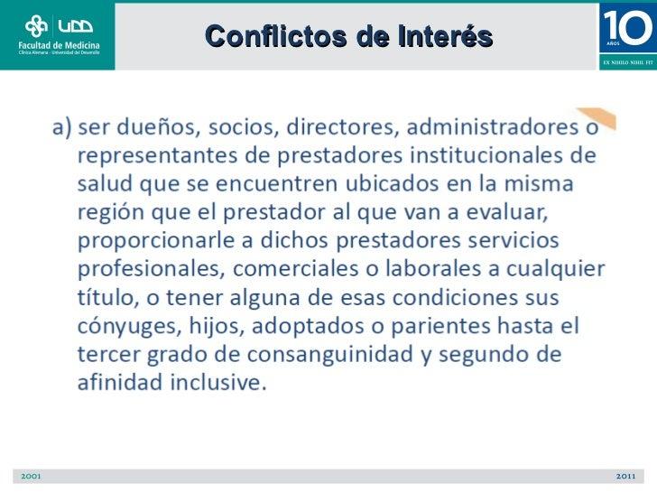 Conflictos de Interés