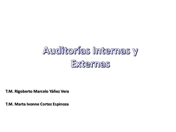T.M. Rigoberto Marcelo Yáñez VeraT.M. Marta Ivonne Cortez Espinoza