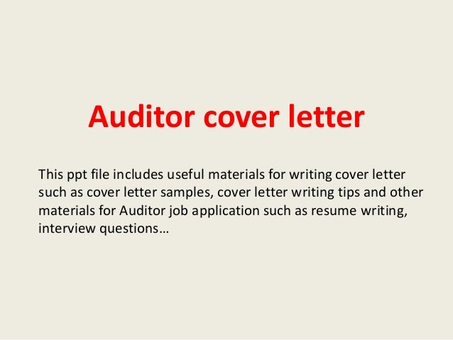 Stunning Auditor Cover Letter Ideas - Best Resume Examples by ...