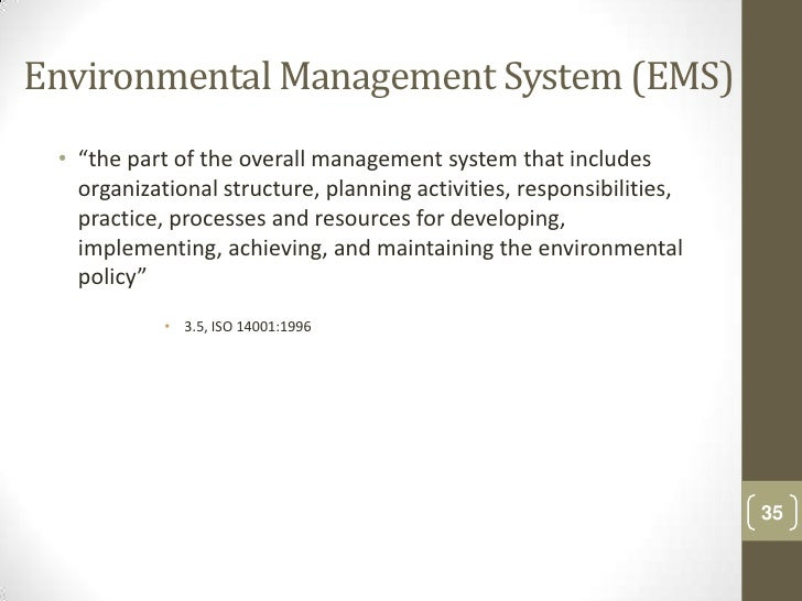 environmental quality management systems Quality management:  value and credibility to your environmental management system, while assessing its conformity to iso 14001  with founding sai global's.