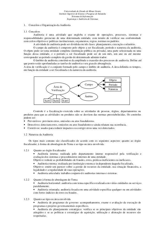 Universidade do Estado de Minas Gerais Instituto Superior de Ensino e Pesquisa de Ituiutaba Sistemas de Informação Seguran...