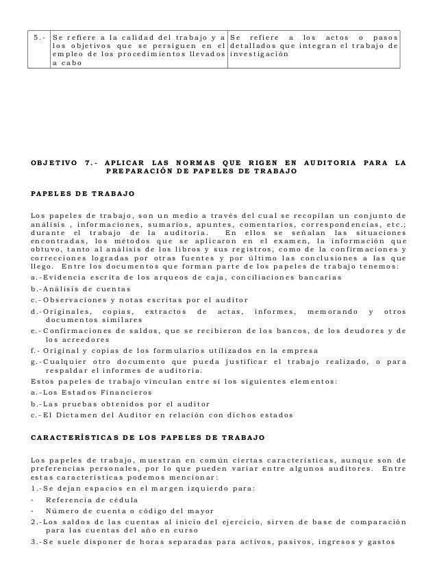 5.-    Se refiere a la calidad del trabajo y a Se refiere a los actos o pasos           los objetivos que se persiguen en ...