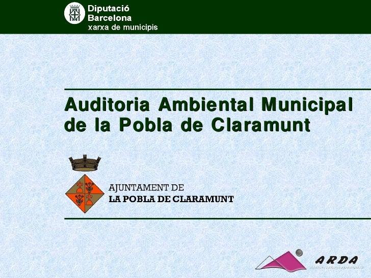 Auditoria Ambiental Municipal de la Pobla de Claramunt
