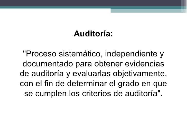 Auditoria calidad I Slide 3