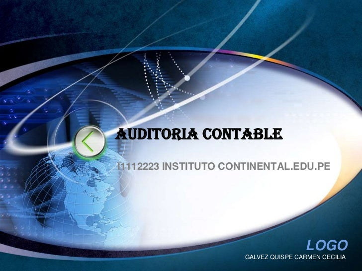 GALVEZ QUISPE CARMEN CECILIA<br />AUDITORIA CONTABLE<br />I1112223 INSTITUTO CONTINENTAL.EDU.PE<br />