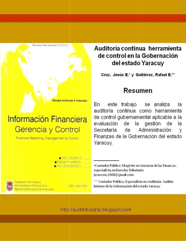 Información Financiera, Gerencia y Control, Año 1 hhttttpp:: Información Financiera, Gerencia y Control, Año 1- Numero 3, ...