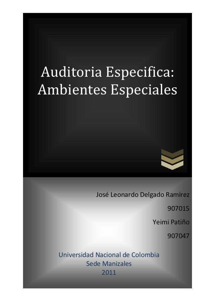 center-500045529511000065000Auditoria Especifica: Ambientes Especiales8248653195954José Leonardo Delgado Ramírez907015Yeim...