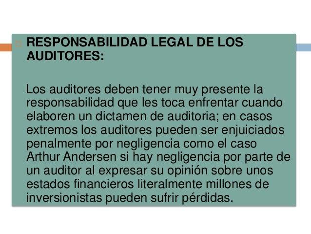 Auditoria i teoria for Responsabilidad legal