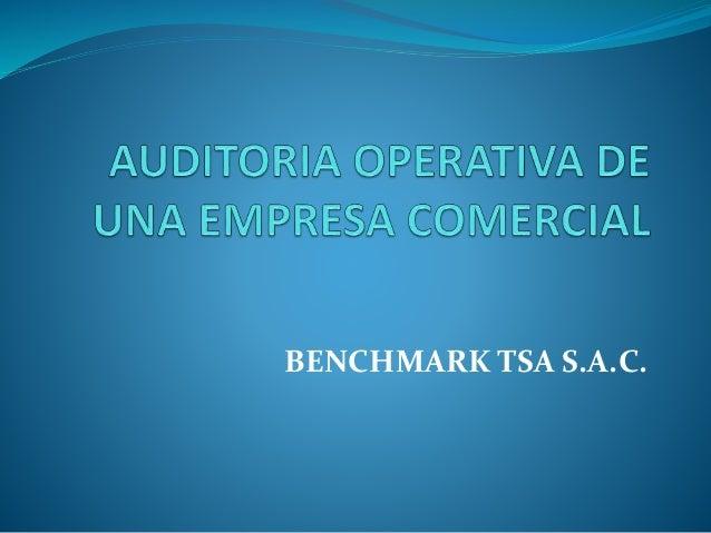 BENCHMARK TSA S.A.C.