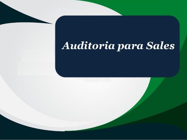 Auditoria para Sales
