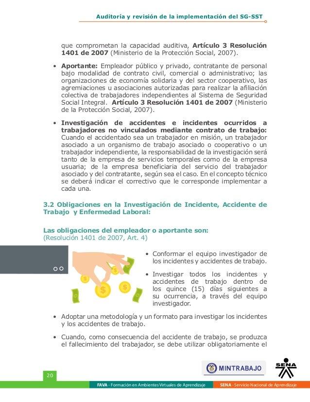 Auditoria revisión Sistema de Gestión Seguridad y Salud sg-sst