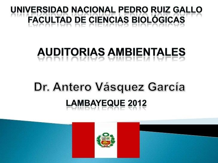 CONCEPCIÓN DE                  AUDITORÍA                  AMBIENTAL                           Son      Auditorías realizad...