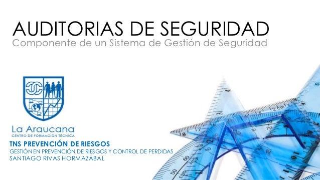 AUDITORIAS DE SEGURIDADComponente de un Sistema de Gestión de SeguridadTNS PREVENCIÓN DE RIESGOSGESTIÓN EN PREVENCIÓN DE R...