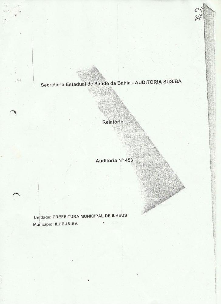 Auditoria sesab 2010