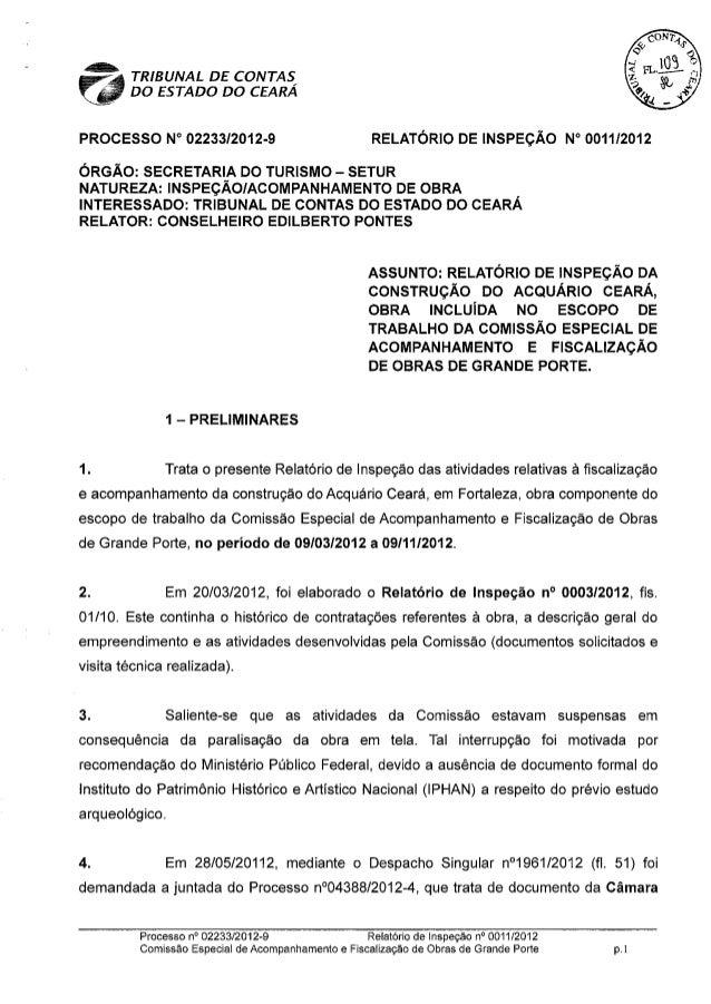 Comissão Técnica do TCE considera obra do Acquário ilegal