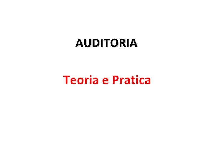 AUDITORIA Teoria e Pratica