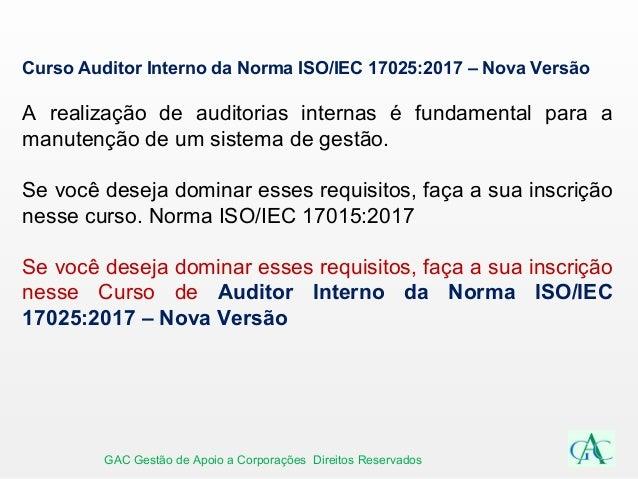 Auditor Interno da Norma ISO IEC 17025 2017 – Nova Versão 34416d6c4b4