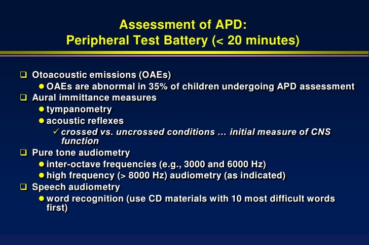 auditory lateralization ability in children with apd Central auditory processing disorder  normal auditory processing ability following training  associated with auditory training in children with auditory .