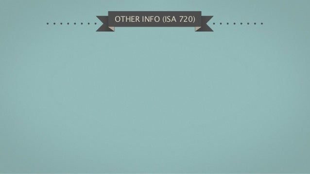 OTHER INFO (ISA 720)