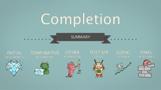 Completion                                  SUMMARY INITIAL      COMPARATIVE      OTHER        POST SFP   GOING      FINAL...