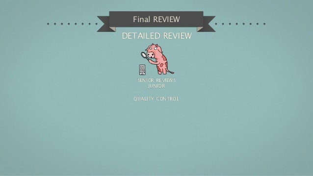 Final REVIEWDETAILED REVIEW   SENIOR REVIEWS       JUNIOR  QUALITY CONTROL