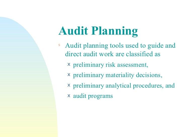 audit planning steps