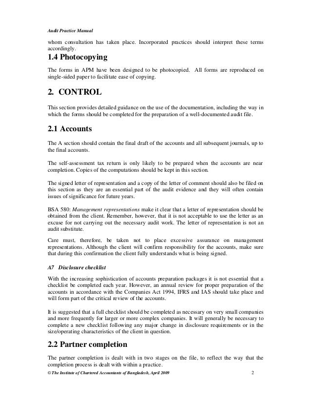 Audit practice manual