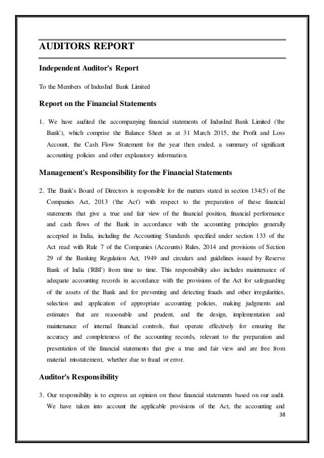 audit of banks Bank operations audit checklists the financial operations side of the financial institution continues to be scrutinized by the regulatory agencies, as well as the board of directors when.